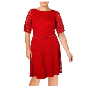 NWT Charter Club Red Lace Dress XL XLP Red Amore